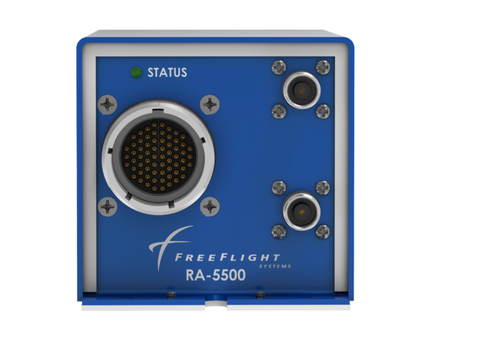 Front view of the RA-6500 Radar Altimeter designed for general aviation.
