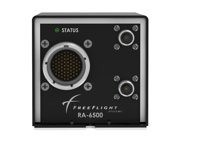 Front view of the RA-6500 Radar Altimeter designed for transport rotorcraft and business jets.