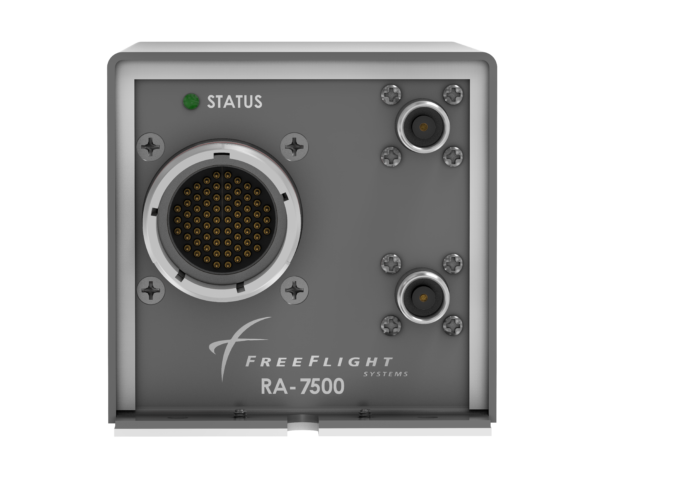 Front view of the RA-7500 Radar Altimeter designed for military and government